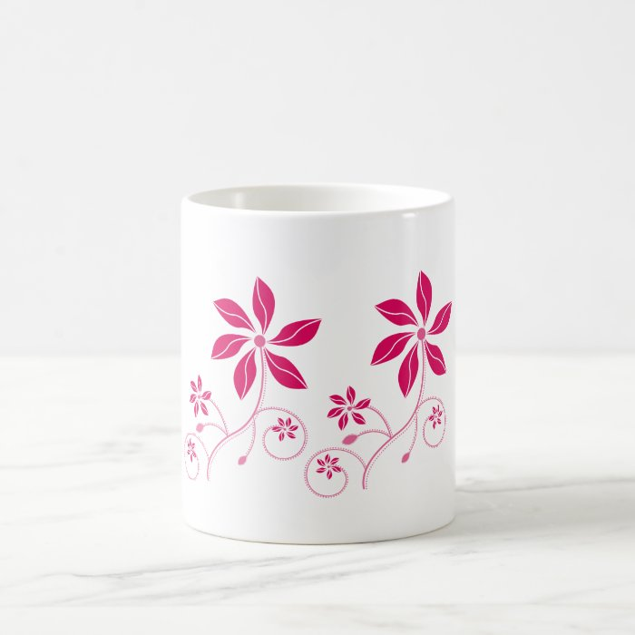Retro - Funky Flowered  Beverage Mugs