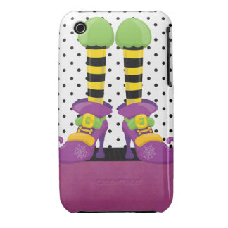 Retro Funky Halloween Witch Shoes iPhone 3 Case