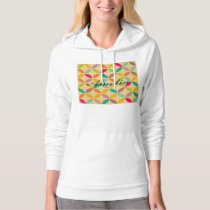 Retro funky multi 70's color pattern hipster chic hoodie