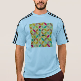 Retro funky multi 70's color pattern hipster chic t-shirts