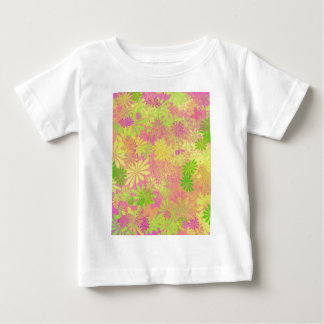 Retro Funky Psychedelic flowers Baby T-Shirt