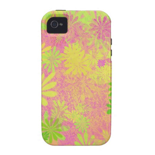 Retro Funky Psychedelic flowers Case-Mate iPhone 4 Cover