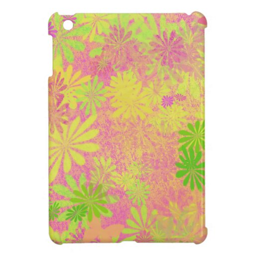 Retro Funky Psychedelic flowers iPad Mini Cover