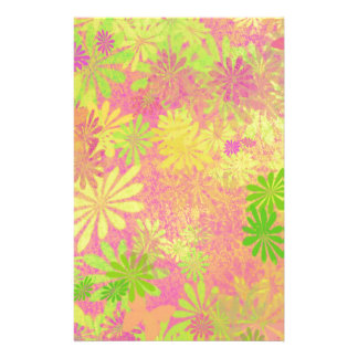 Retro Funky Psychedelic flowers Stationery
