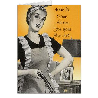 Retro Funny Advice Congratulations New Job Card