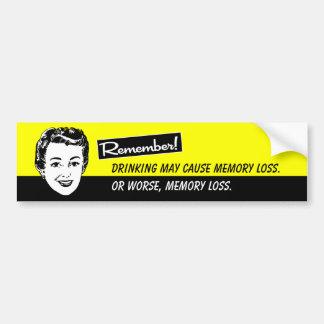 Retro Funny Drinking bumper sticker