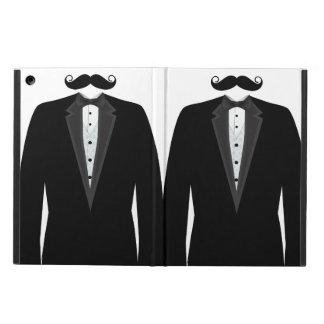 Retro Funny Mr. Mustache Tuxedo Groom iPad Air Case