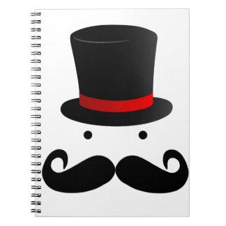 Retro Funny Mustache Moustache Man Gent Notebook