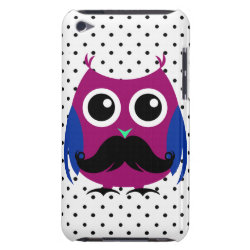 Case-Mate iPod Touch Barely There Case with Cartoon Owls with Mustaches design
