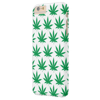 Retro Funny Pot Leaf Pattern Barely There iPhone 6 Plus Case