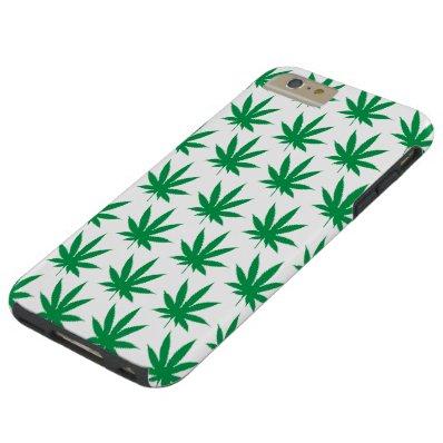 Retro Funny Pot Leaf Pattern Tough iPhone 6 Plus Case