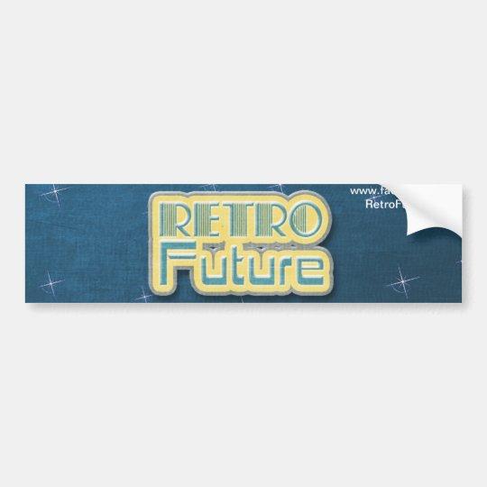 Retro Future Space Graphic Bumper Sticker