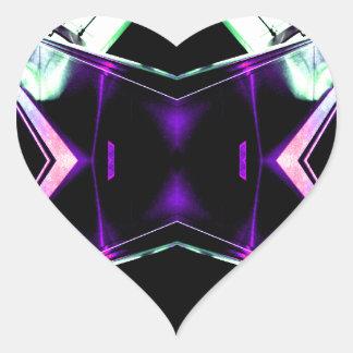 Retro Futurism Space Age Fantasy - CricketDiane Heart Sticker