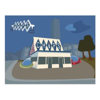 Retro-Futuristic Chips, Merrill, WI Postcard