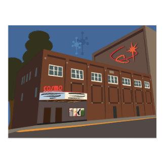 Retro-Futuristic Cosmo Theater, Merrill, WI Postcard