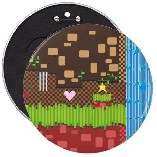 Retro Game 6 Inch Round Button