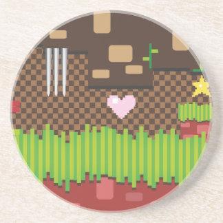 Retro Game Sandstone Coaster