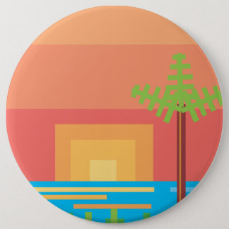 Retro Game - Tropical Sunset Button