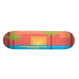 Retro Game - Tropical Sunset Skateboard Deck
