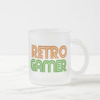 Retro Gamer Geek 10 Oz Frosted Glass Coffee Mug