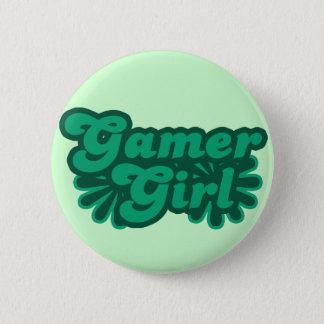 Retro Gamer Girl Button
