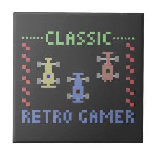 Retro Gamer Racing Ceramic Tile