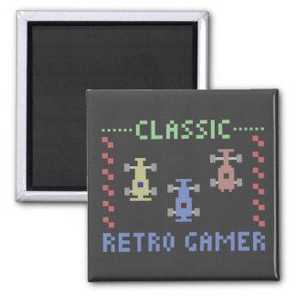 Retro Gamer Racing Magnet
