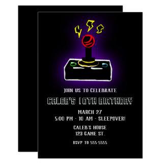 Retro Gamer Video Game Joystick Controller Party Card