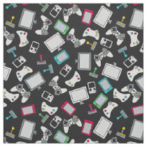 Retro Gamer Video Games Gaming Black Fabric