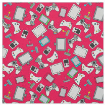 Retro Gamer Video Games Gaming Red Fabric