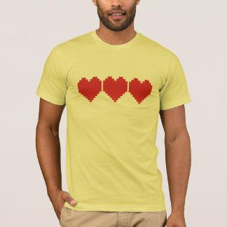 Retro Gaming Hearts T-Shirt