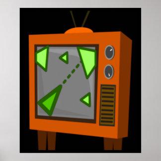 Retro gaming tv poster