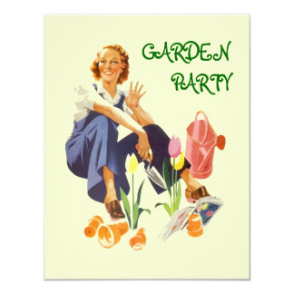 Retro Garden Party Invitation ~ Easy to Customize