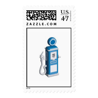 Retro Gas Pump Stamp