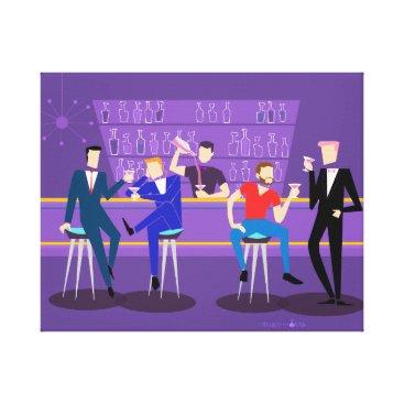 Art Themed Retro Gay Bar Canvas Print