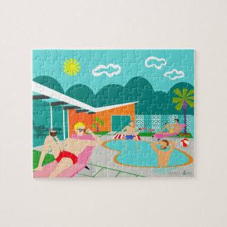 Retro Gay Pool Party Puzzle