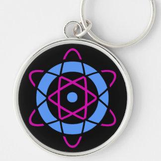 Retro Geek Atom Symbol Key Chains