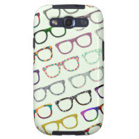 Retro Geek Hipster Glasses Pattern Galaxy S3 case