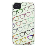 Retro Geek Hipster Glasses Pattern iPhone4S case iPhone 4 Case
