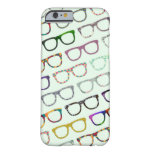 Retro Geek Hipster Glasses Pattern iPhone 6 case