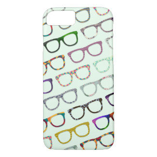 Retro Geek Hipster Glasses Pattern iPhone 7 case