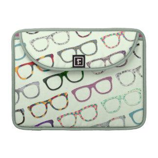 Retro Geek Hipster Glasses Pattern Macbook sleeve Sleeves For MacBook Pro