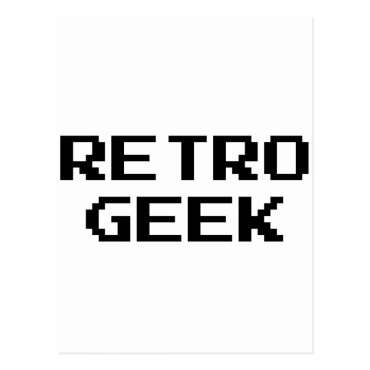 Retro Geek Products & Designs! Postcard
