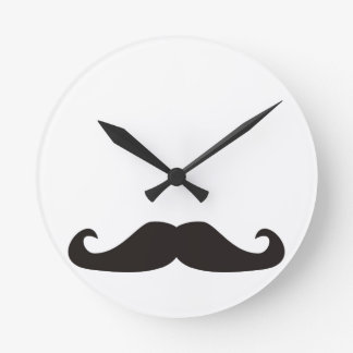 Retro gentelman mustaches clock
