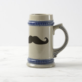 Retro gentelman mustaches hipsters beer stein