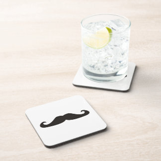 Retro gentelman mustaches hipsters coaster