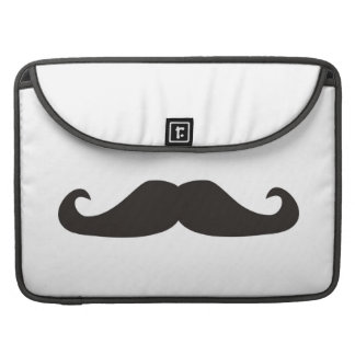Retro gentelman mustaches hipsters sleeve MacBook