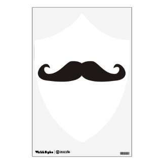 Retro gentelman mustaches hipsters Wall Decal