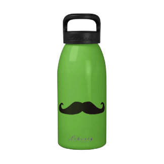 Retro gentelman mustaches hipsters Water Bottle