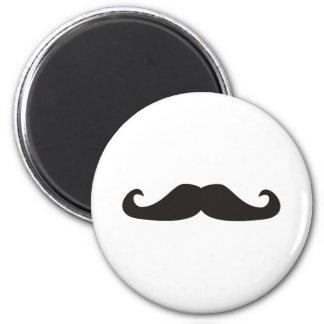 Retro gentelman mustaches illustration refrigerator magnets